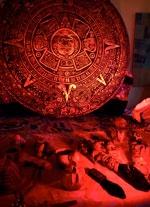 Mexicolore Aztec workshop display in a primary school