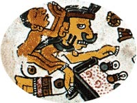 Aztec style metate from a Mixtec codex