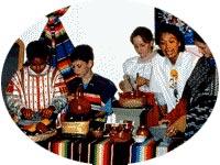 Museum of Mankind workshop recreating Aztec food preparation