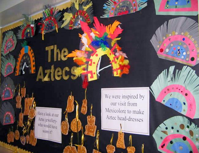 Aztec Calendar Art Lesson : For kids headdress and aztec on pinterest