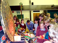 * Why not invite parents in to share the experience? Year 4 pupils at Mary Exton JMI School, Hitchin, May 2008, view some of our Aztec artefacts display with their parents