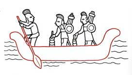 Guess aztecs/aztec-life/king-canoe