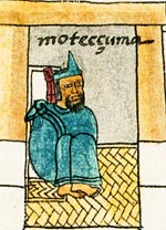 Moctezuma II in his palace (Codex Mendoza - original in the Bodleian Library, Oxford)