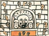 Tlazoltéotl - goddess of the sauna! (Codex Tudela, folio 62r)