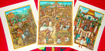 Mexicolore's set of full-colour illustrations - an Aztec slave boy