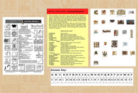 Old and new versions of our Activity Sheet 1 on Aztec glyphs