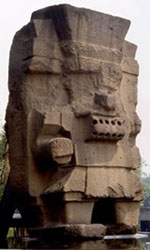 Tlaloc stands proudly outside the National Museum of Anthropology
