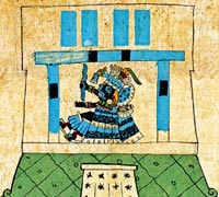 Tlaloc as seen in the Codex Borbonicus