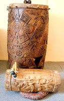 Replica Aztec drums made by Jaime Flores