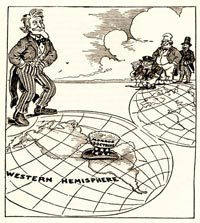 20. The Monroe Doctrine - a US cartoon from 1912