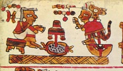 Marriage scene from the Codex Selden