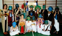 Impressive Aztec costumes at an unknown school