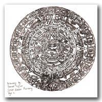 Daniel Triffitt's drawing of the Aztec Sunstone