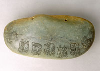 Pic 4: Fine Mayan jade piece on display: Image courtesy National Museums Liverpool.