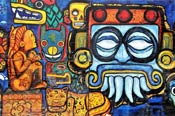 Pic 8: Maya and Aztec gods; contemporary mural