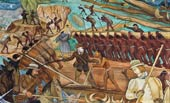 Pic 11: The other face of the conquest... mural by Diego Rivera