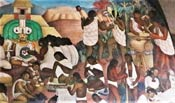 Pic 20: Imploring ancestors... (detail from Diego Rivera mural)