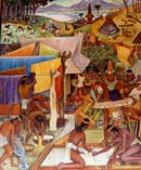 Pic 3: Levies in kind... (detail of mural by Diego Rivera)