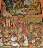 Pic 6: Detail from a mural on indigenous life by Diego Rivera