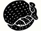 Pic 2: Traditional clay armadillo-designed stamp from the Veracruz region of Mexico