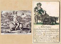 Pic 16: Armadillos 'represent' America: 16th-17th century engravings by de Los/Collaerte (L) and Bella (R)