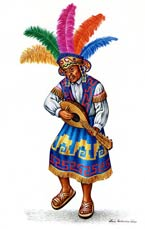 Pic 14: Illustration of a Conchero dancer by Luis Covarrubias