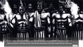 'Surrounded by Totonac Warriors'