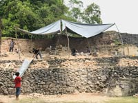 Pic 6: Archaeologists at work at the A13 site, Xunantunich