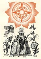 Pic 3: Sun worship: Illustration by Alberto Beltrán
