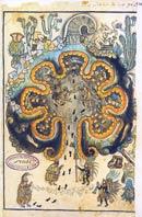 Pic 10: Chicomoztoc, Place of the Seven Caves; Historia Toltecs-Chichimeca, fol. 34