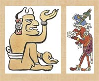 Pic 3: Mythical Maya grandparents Xpiyacoc and Ixpucane: illustrations by Diego Rivera