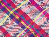 A colourful and finely woven petate