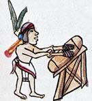Aztec drummer, Codex Magliabechiano fol. 82