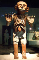 Mictlantecuhtli was discovered by archaeologist Leonardo L�pez Luj�n at the site of the Templo Mayor