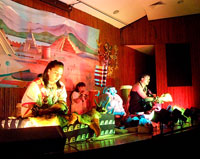 Members of the group 'Amoxpoani' in performance, Templo Mayor Museum