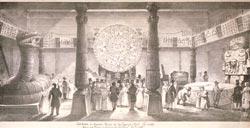 Copy of the Tizoc Stone in Bullock's 1824 London exhibition