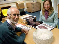 Ian with Haslemere Museum Assistant Curator Julia Howard