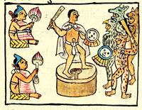 Gladiatorial combat, Florentine Codex (Book 9)