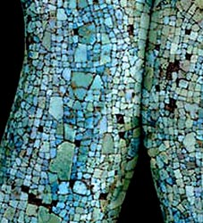 Pic 2: deliberate snakeskin effect in the mosaic