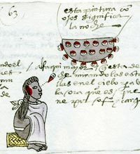 Picture 2: Aztec astronomer, Codex Mendoza (original in the Bodleian Library, Oxford)