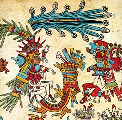 Picture 10: Tlahuizcalpantecuhtli (facing Xiuhtecuhtli), Codex Borbonicus