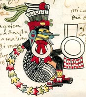 Tezcatlipoca, Codex Tudela, folio 19r