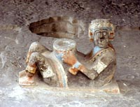 Chac mool figure, Templo Mayor, Mexico City