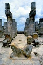 Chac mool figure, Chichen Itzá, Yucatán