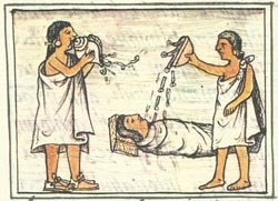 Pic 5: What's going on (scene from the Florentine Codex)?