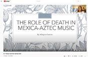 Pic 9: Alegría García's presentation on Aztec music
