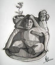 'Aztec mother and child' 2006
