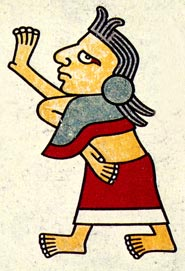 Picture 3: A woman wears a quechquémitl, Codex Laud (original in the Bodleian Library, Oxford)