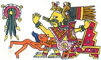 Picture 3: Reconstructed image of Chalchiuhtlicue from Codex Borgia