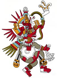 Picture 3: Miguel Covarrubias's re-drawing of Quetzalcóatl from the Codex Borbonicus